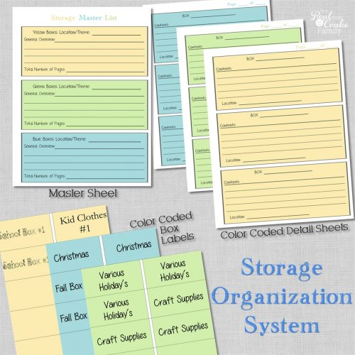 Storage Organization System ~ Perfect For Organizing Your Attic, Shed, Or  Garage Storage Bins