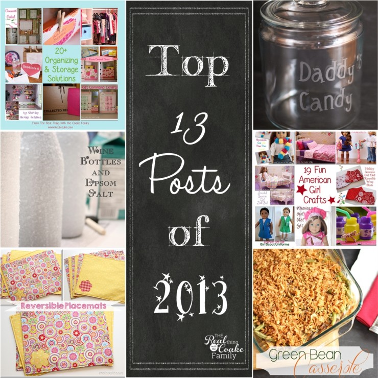 Top 13 Posts of 2013 at www.realcoake.com #RealCoake