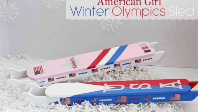 Winter Olympics Crafts ~Make an American Girl Doll Sled