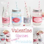 Valentine's Day Ideas ~ Cute Drinking Glass Wrappers