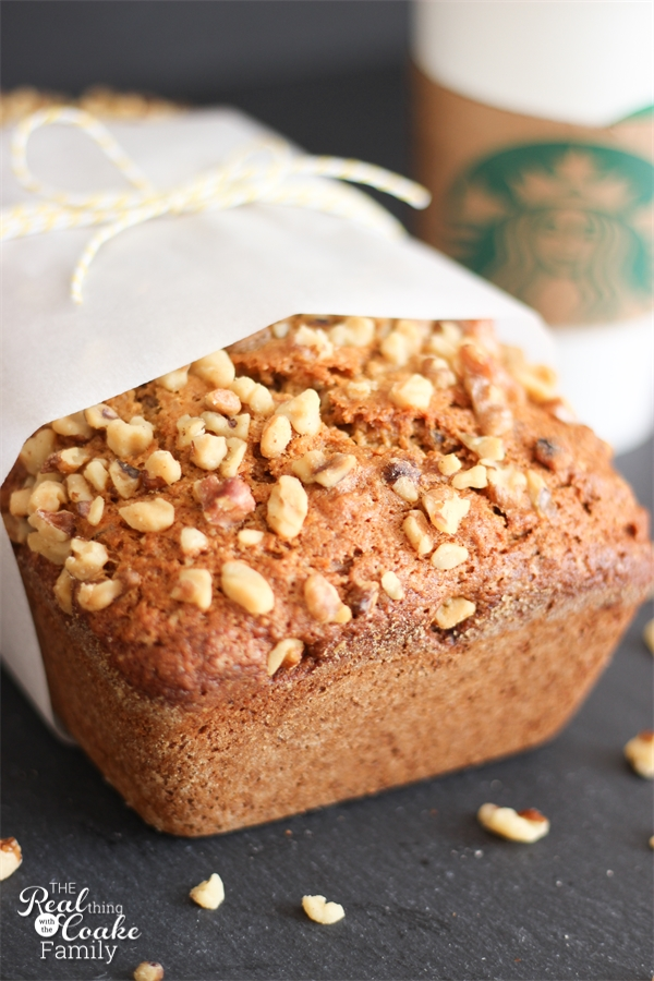 Delicious banana bread recipe! This is THE Starbucks banana bread recipes(not a knock-off) you can make at home...yum!