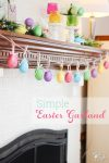 Easter crafts are so fun! Tutorial to make this quick and easy DIY 5 minute egg garland. Perfect for my Easter and Spring Home Decor