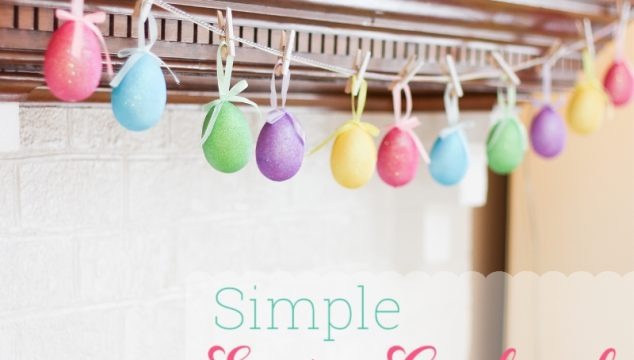 Easter Crafts ~ Make an Egg Garland in 5 minutes