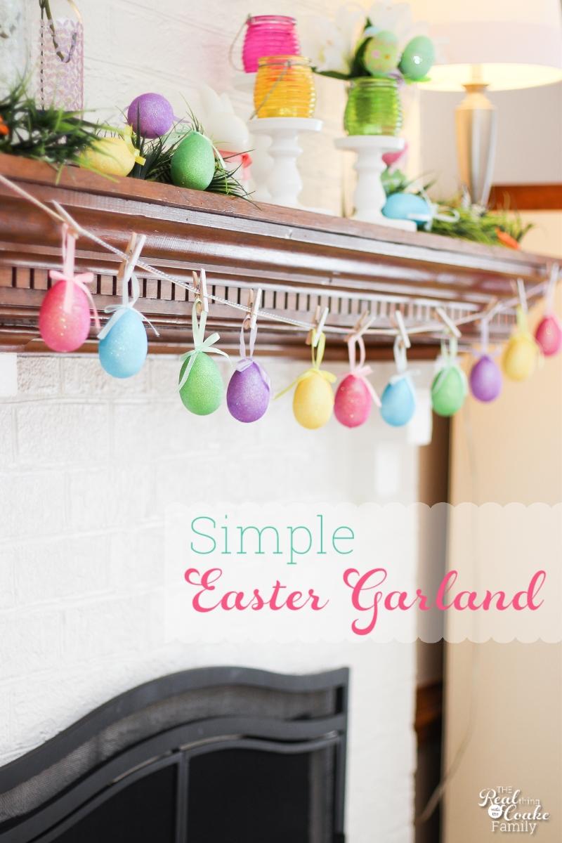 Easter Crafts Make A Egg Garland In 5 Minutes