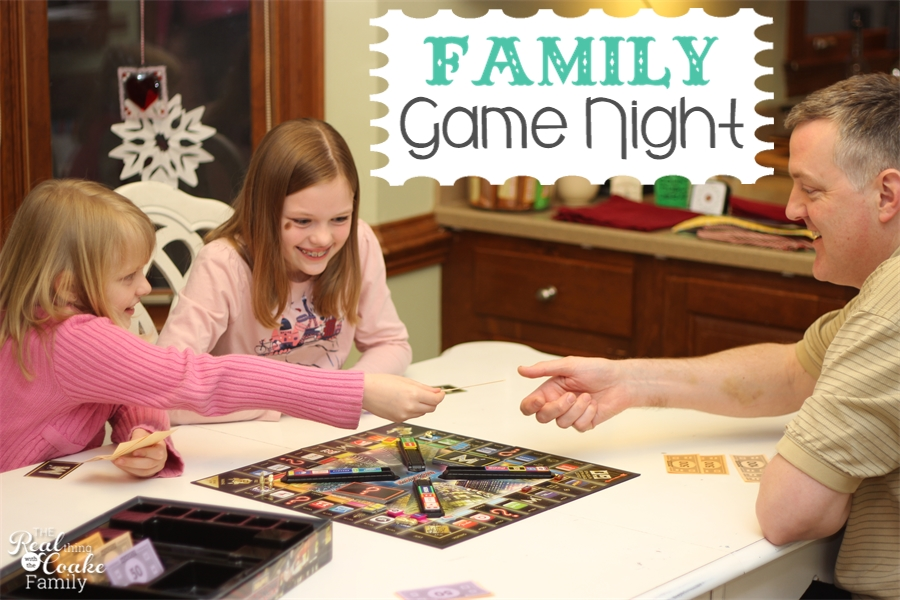10 spectacular games for family game night along with tips how to have a regular game night with your family. #FamilyGameNight #GameNight #FamilyFun #RealCoake