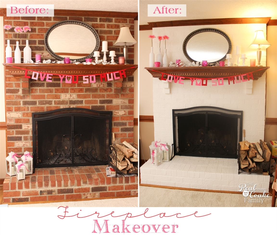 my exceptionally easy and dramatic fireplace makeover