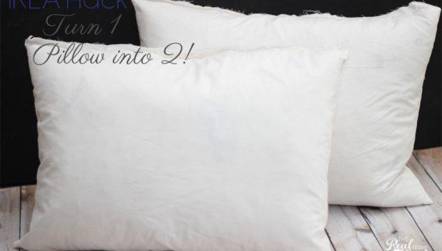 IKEA Hack ~ Turn 1 Pillow Into 2 Pillows