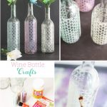 Wine Bottle Crafts ~ Make Spring Vases ♥