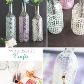Wine Bottle Crafts ~ Make Spring Vases ♥