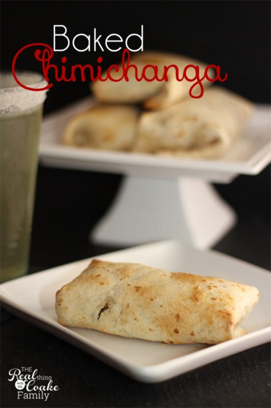 Recipe for a baked Chimichanga that is crispy, crunchy, and delicious. #Recipe #Chimichanga #RealCoake