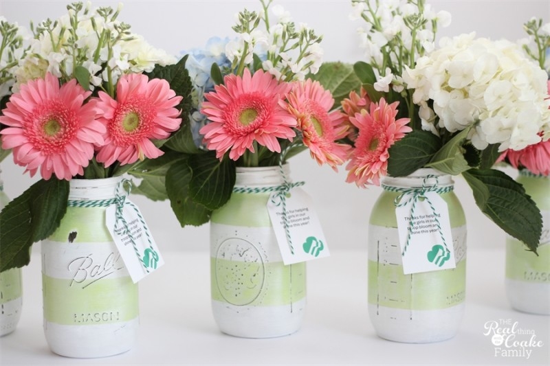 Gift Ideas Make Gorgeous Mason Jar Vases