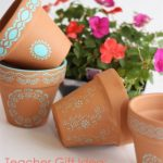 Teacher Gifts ~ Make Stenciled Pots