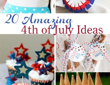20 Amazing 4th of July Ideas! Love that there are food, crafts desserts, decorations, drinks, activities in these ideas. They will be perfect for the kids and adults and our 4th of July Party! Love it!