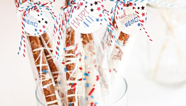 Patriotic Pretzels ~ 4th of July Recipes