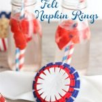 Craft Ideas ~ Easy to Make 4th of July Felt Napkin Rings