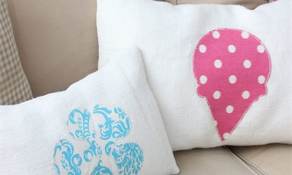 Burlap Summer Decorative Pillows