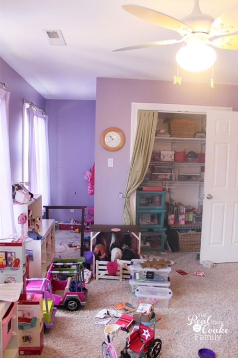 Girls bedroom ideas ~ Moving girls from sharing a room to their own rooms...a work in progress. #Girls #Bedroom #Decorating #RealCoake