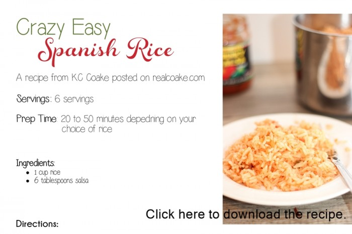 This looks like the easiest Spanish rice recipe ever! Sounds totally delicious, too. #Spanish #Rice #Recipe #RealCoake