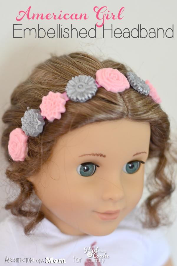 American Girl Crafts Make A Pretty Embellished Headband