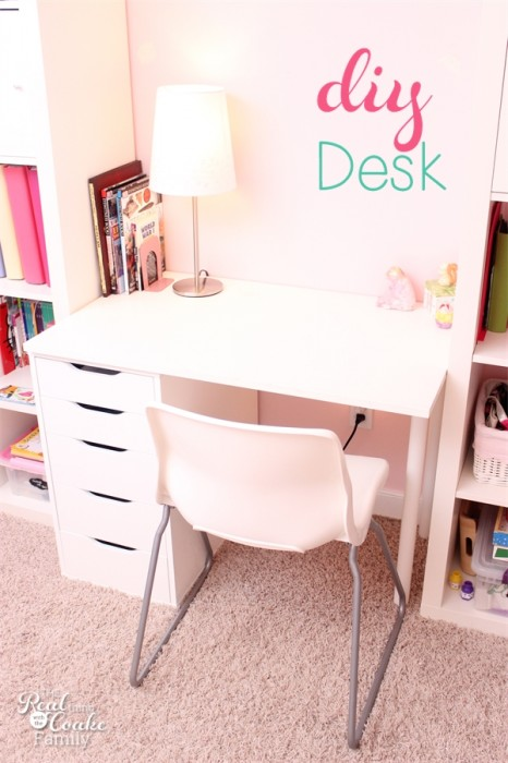 Diy Desk To Fit Into A Ikea Expedit Custom Built Shelving Unit Perfect Idea For