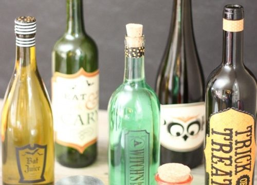 Wine Bottles Make Easy Halloween Crafts