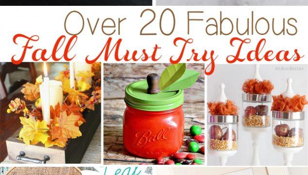 20+ Fabulous Must Try Fall Ideas