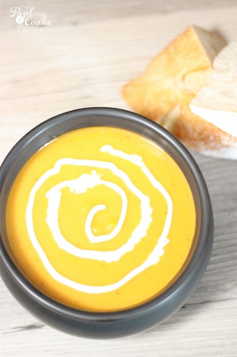 Soups are perfect recipes for fall. We like to make our soup spooky for Halloween. Recipe and directions are included to make this spiderweb butternut squash soup.