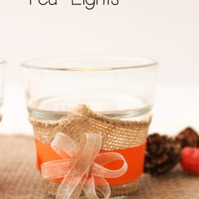 Thanksgiving Crafts ~ Simple Tea Lights for the Table