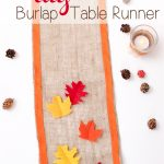 Thanksgiving DIY Burlap Table Runner