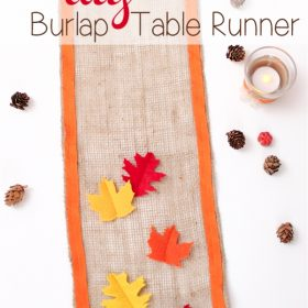 Thanksgiving DIY Burlap Table Runner