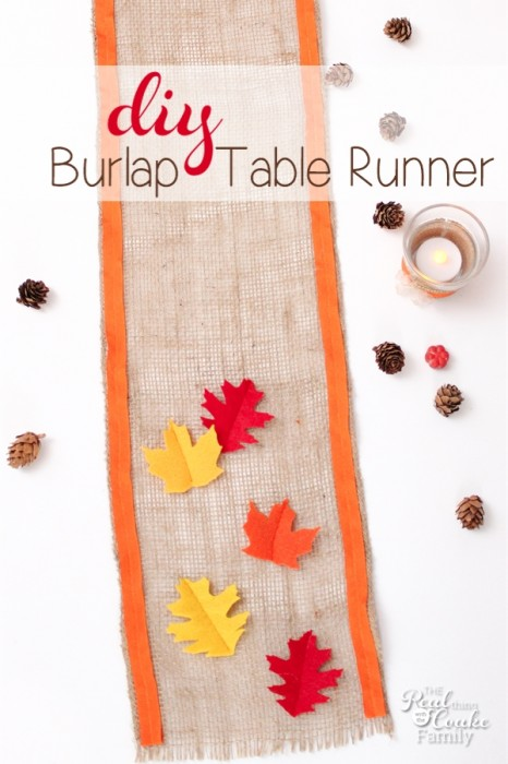 Thanksgiving seems to get so forgotten. I still love making Thanksgiving crafts and this diy burlap table runner will be fantastic on my Thanksgiving table.