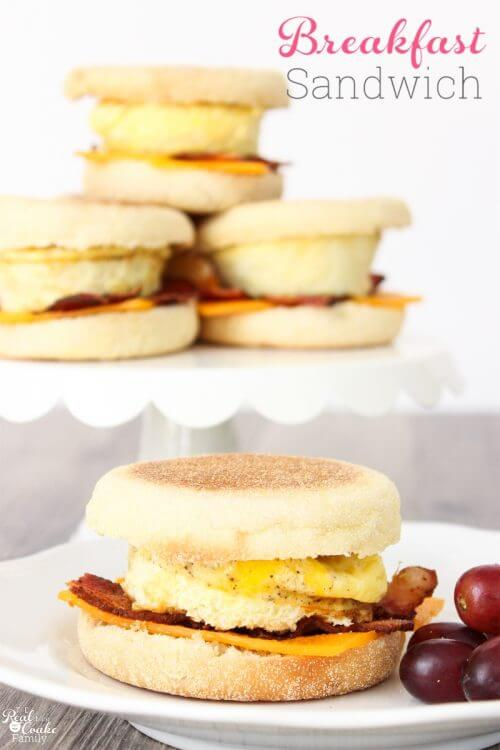 Love quick and easy breakfast ideas. This recipe makes delicious egg sandwiches that I can make ahead and pop in the freezer. Perfect easy grab and go weekday breakfast.