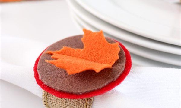 Thanksgiving Crafts ~ Make Felt and Burlap Napkin Rings