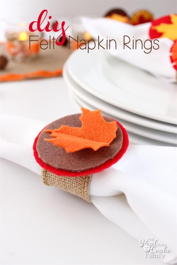 thanksgiving crafts make felt and burlap napkin rings. Black Bedroom Furniture Sets. Home Design Ideas