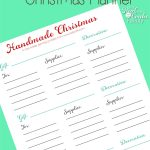 Free Printable Christmas Gift and Decoration Planner