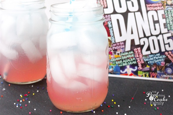 We LOVE finding fun things to do together as a family! This is a perfect idea for family fun...an active game followed by a delicious and fun layered drink for the whole family! Ad.