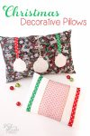 Love this adorable DIY sewing pattern to make Christmas decorative pillows. Totally need to make these and add them to our Christmas decorations! Ad
