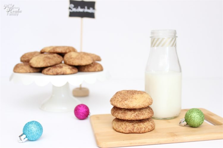 Snickerdoodles are so delish! This Snickerdoodle recipe has been made a little bit more healthy and the cookies still taste amazing! Love it! Sponsored