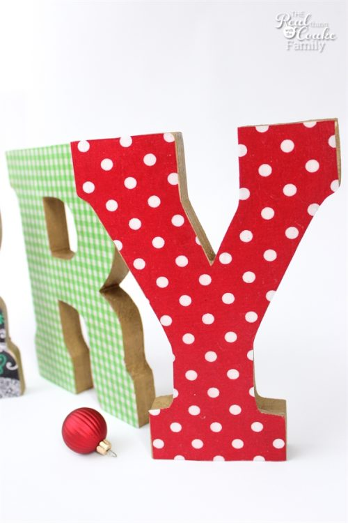 These Merry Letters are the cutest DIY Christmas Decorations! They are an easy craft with endless possibilities. Fun!