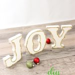 Glittery Joy DIY Christmas Decorations