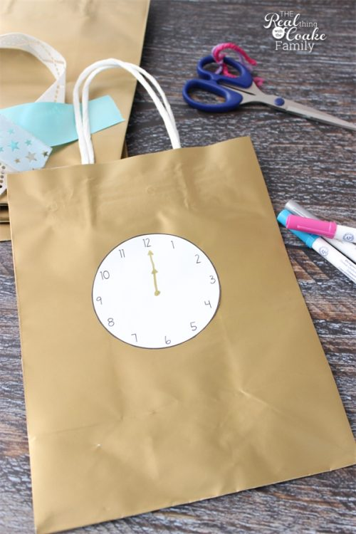 Love cute crafts like these bags. They will be perfect for our family New Year's Eve Party Ideas this year. Can't wait! Sponsored