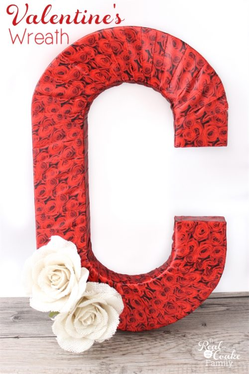 I just love Valentine's Day crafts! They make the winter seem a bit more fun and cheery. This is such a pretty DIY Valentine's wreath. Looks easy too! Sponsored