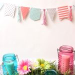 Cute Spring Banner with Twine Tassels