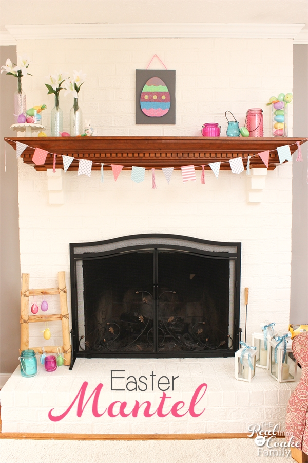 My Mantel Easter Decorations