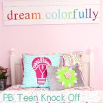 Colorful PB Teen Knock Off Wall Art