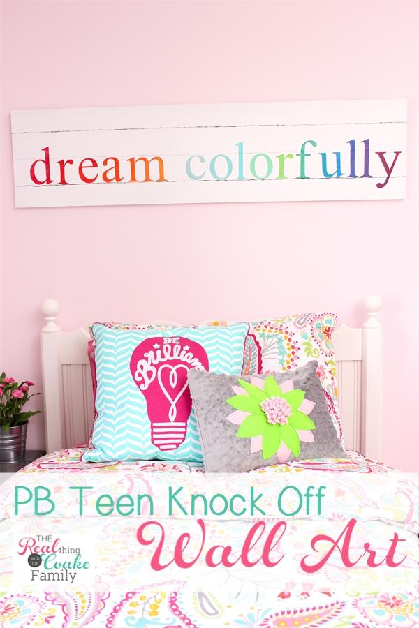 Elegant Effortless Family Wall Art Colorful PB Teen Knock Off Wall Art