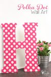 This polka dot Wall Art is so stinkin' cute! It is an easy diy that will go great with other bedroom ideas I have for my daughter's room.