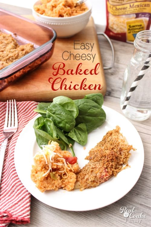 I love easy recipes like this one for an easy cheesy baked chicken and cheesy couscous. Easy dinner makes for an easy weeknight. Love it! Sponsored