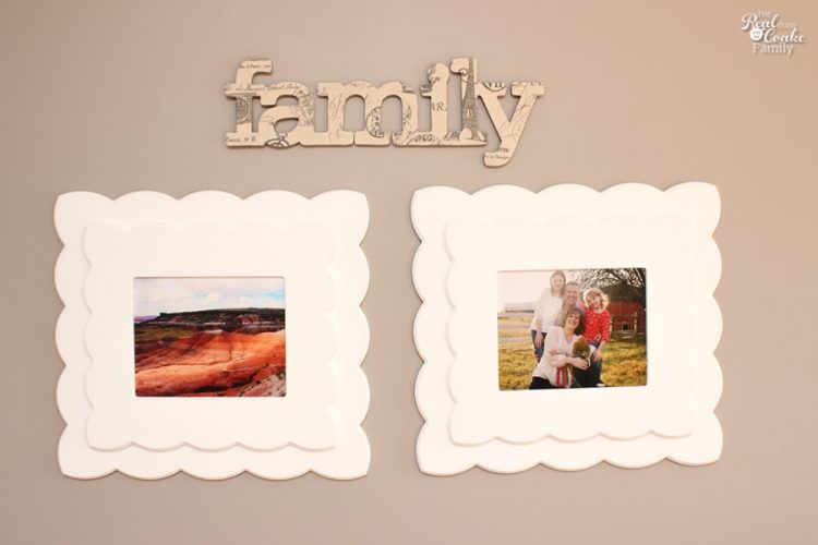 Fabulous This is such cute diy family wall art Looks easy too So pretty and