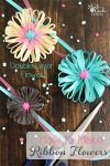 These double layer flowers made with ribbon are such an easy and fun crafts! Full tutorial on how to take Ribbon and create a Flower.
